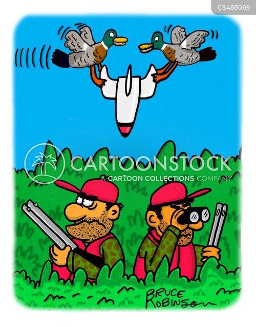duck hunting cartoon