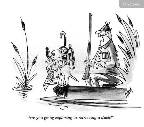 retrieving cartoon
