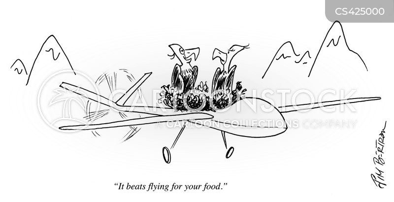 military drones cartoon