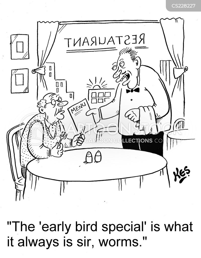 early bird special cartoon