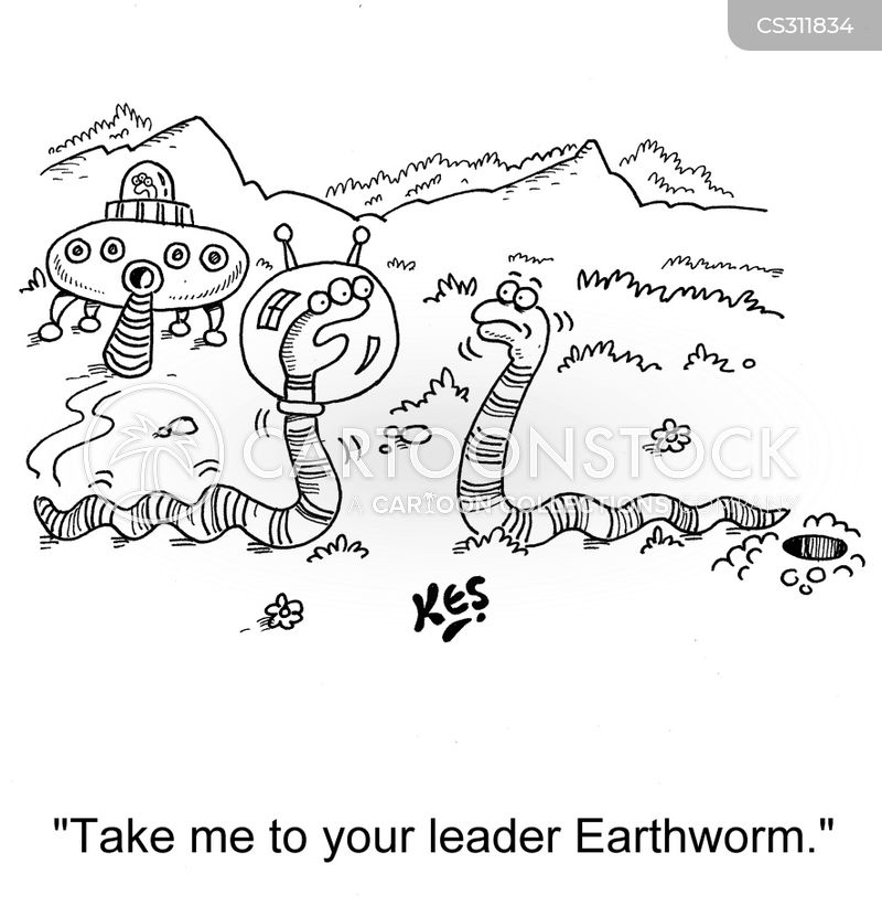 earth worms cartoon