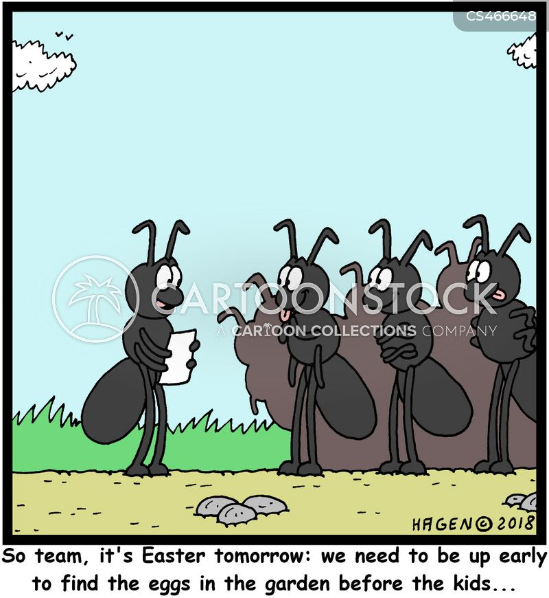 egg hunts cartoon