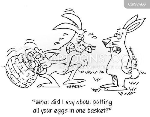 chocolate eggs cartoon
