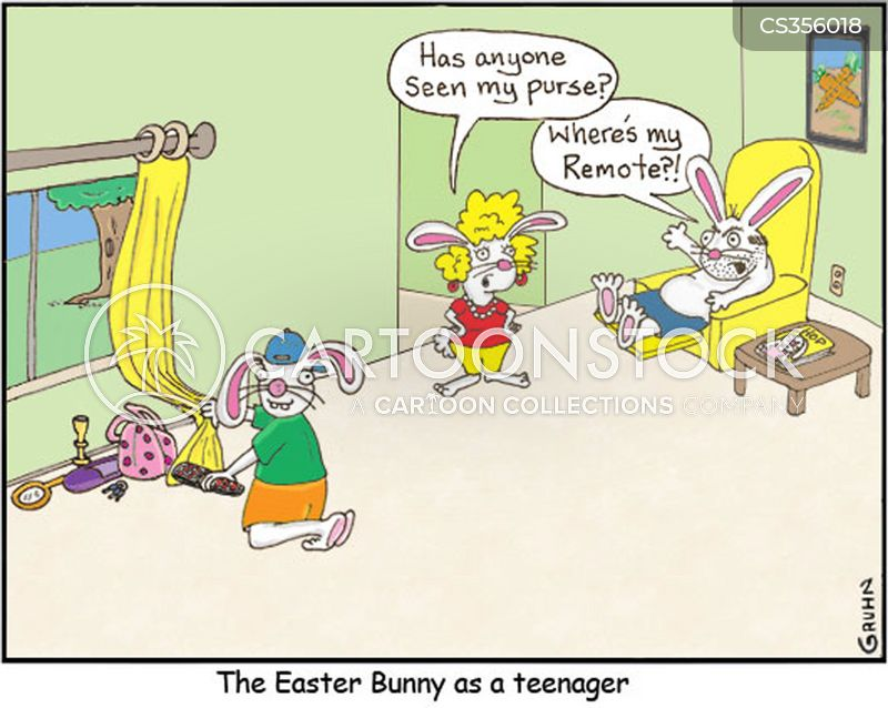 easter egg hunt cartoon