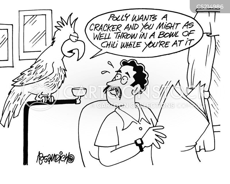 pretty polly cartoon