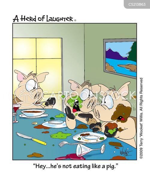 Eat lick pig