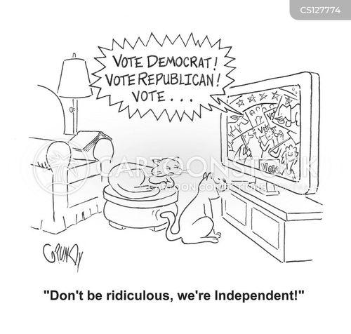 independent voters cartoon