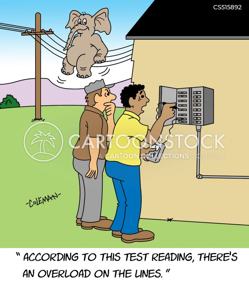 electric box cartoon