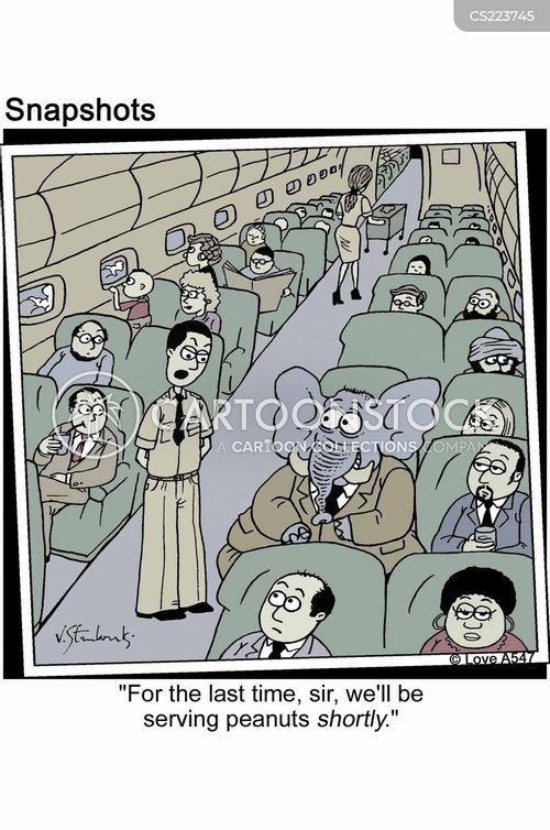 in the air cartoon