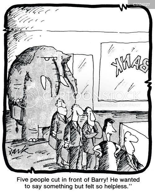 bank ques cartoon