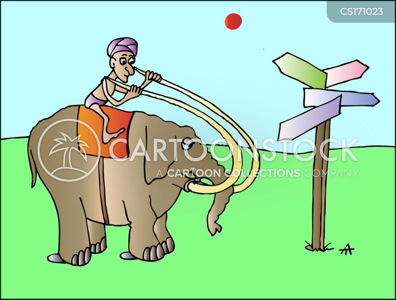 tusks cartoon