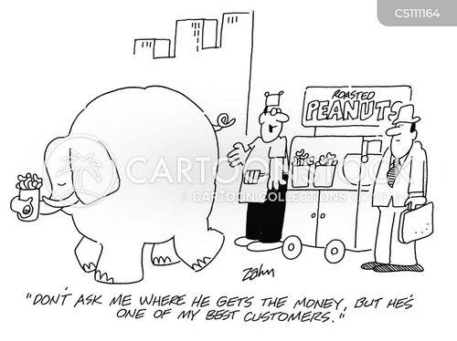 snack cart cartoon