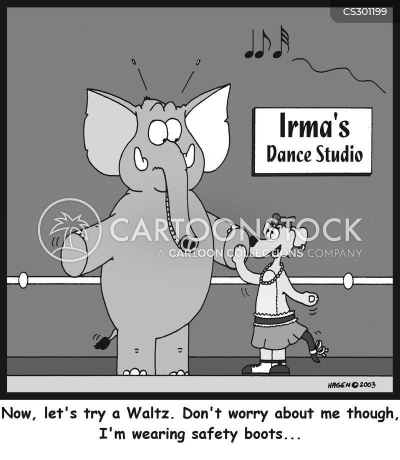 dance instructors cartoon