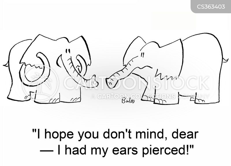 ear piecing cartoon