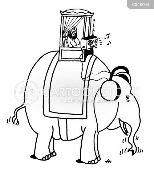 elephant rides cartoon