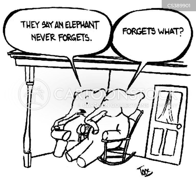 forgetfullness cartoon