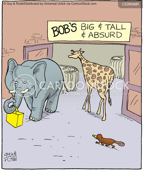 chain shops cartoon