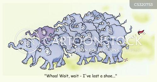 lost shoe cartoon