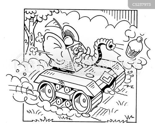 powered cartoon