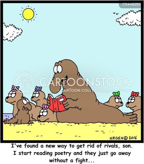 elephant seals cartoon