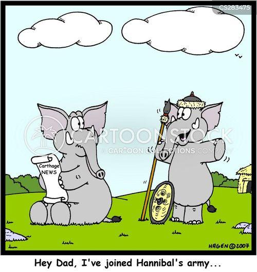 war elephants cartoon