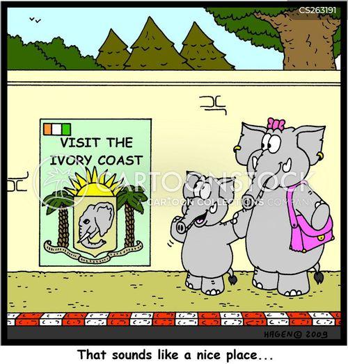 ivory tusks cartoon
