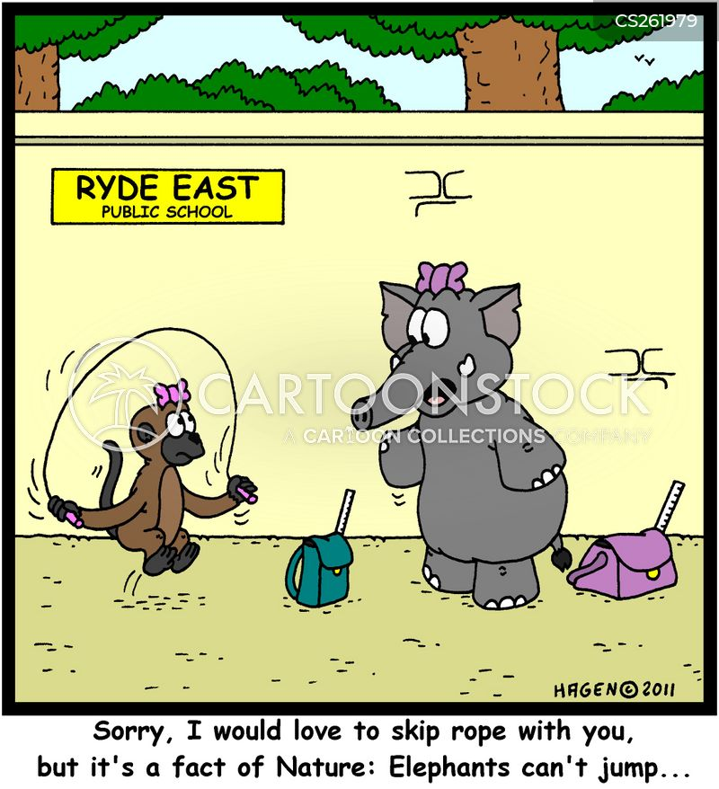 skipping ropes cartoon