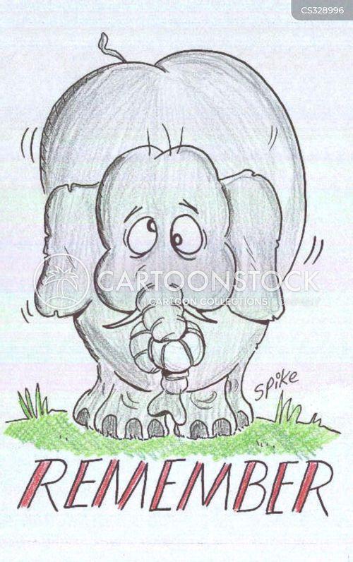 elephants never forget cartoon