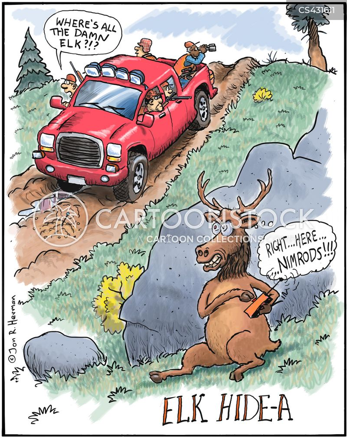 bull elk cartoon