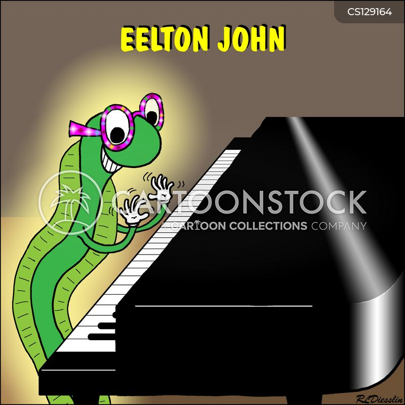 elton john cartoon