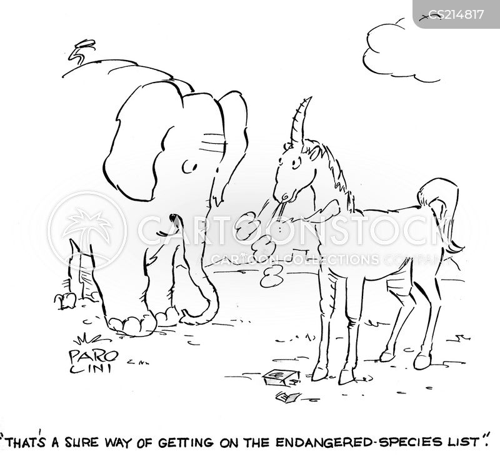 endangered species list cartoon