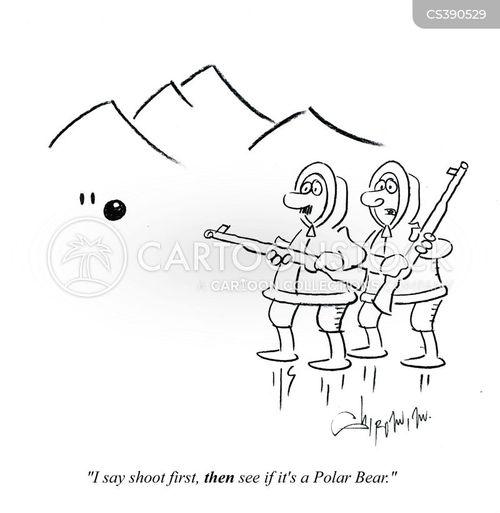hunting rifles cartoon