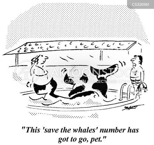 saving the whales cartoon