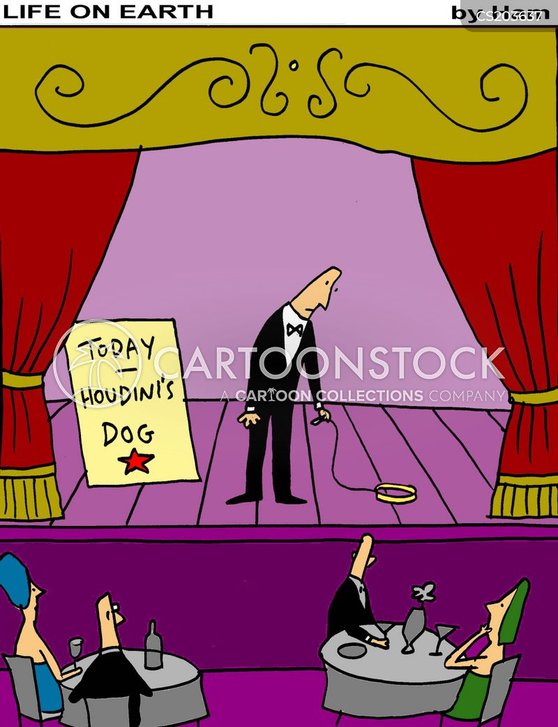 performing dogs cartoon