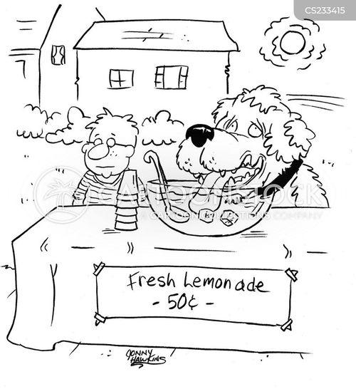 chilled drinks cartoon