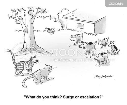 escalation cartoon