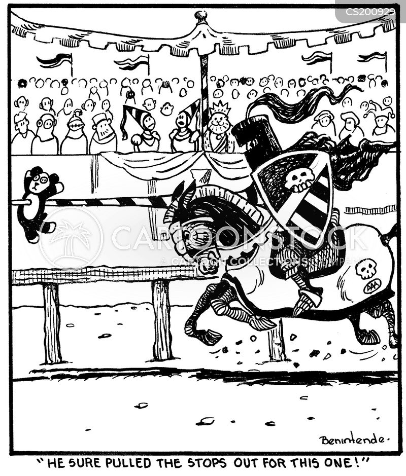joust cartoon