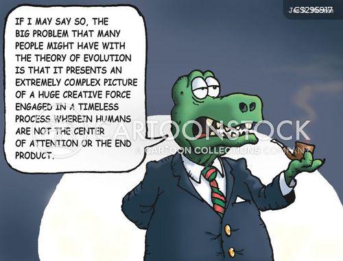 evolution theory cartoon