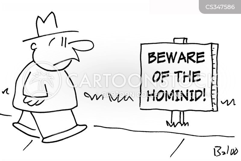 hominids cartoon