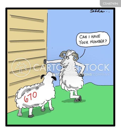 mobile number cartoon
