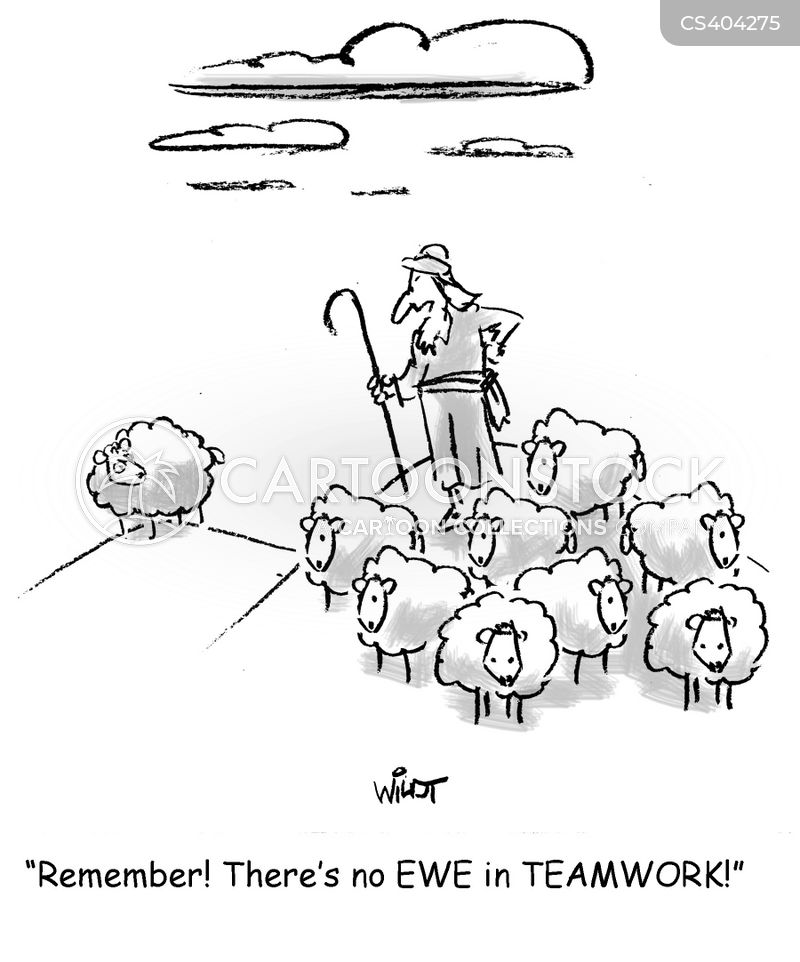 herd mentalities cartoon
