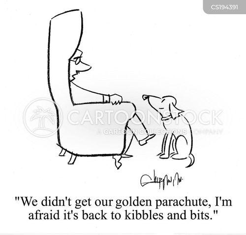 golden parachute cartoon