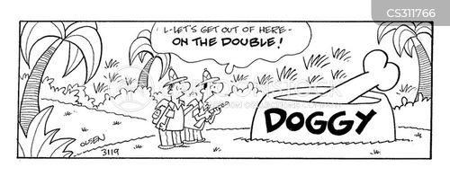 dog dish cartoon