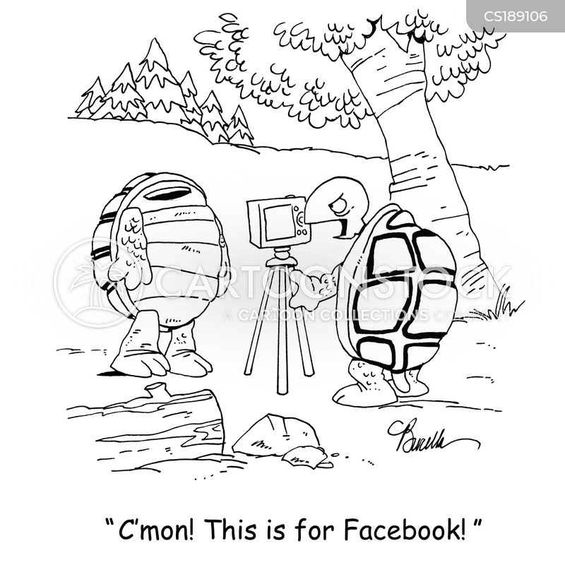 taking pictures cartoon