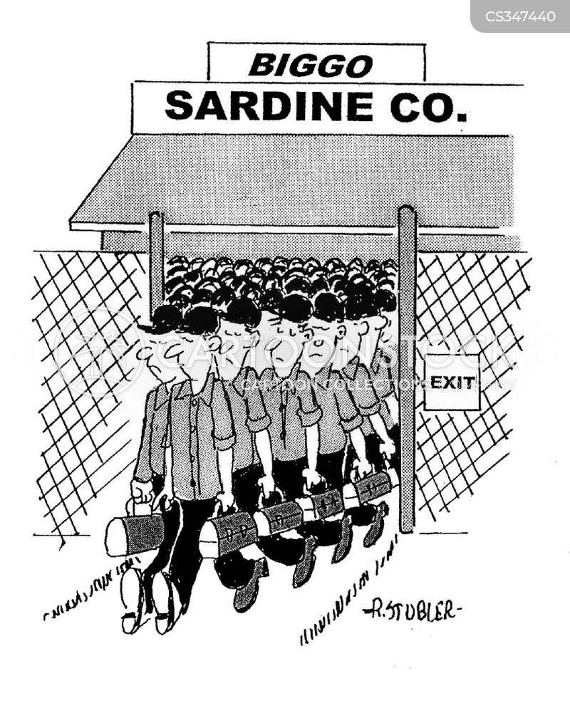 sardine factories cartoon