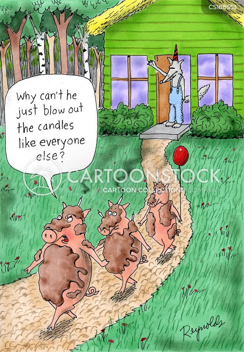 the 3 little pigs cartoon