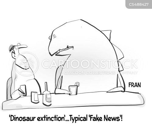 dinosaur extinction cartoon