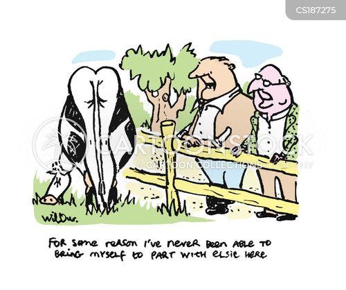 cow farming cartoon