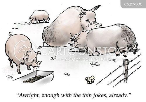 fat joke cartoon