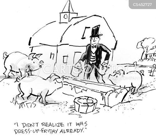 pig farm cartoon